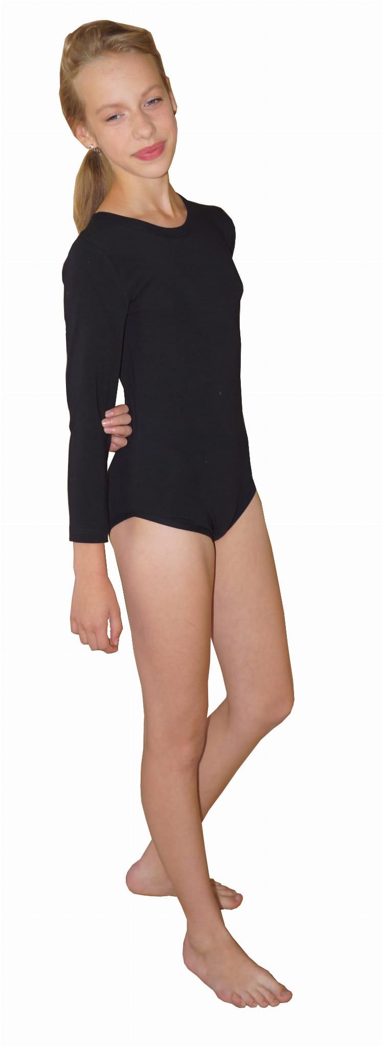 05b09b18329fa8 Body gimnastyczne bawełniane z lycrą, długi rękaw - długi rękaw ...