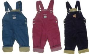 Rewelacyjny Spodnie ocieplane dla dzieci, ogrodniczki sztruksowe - Bielizna Roku WP68
