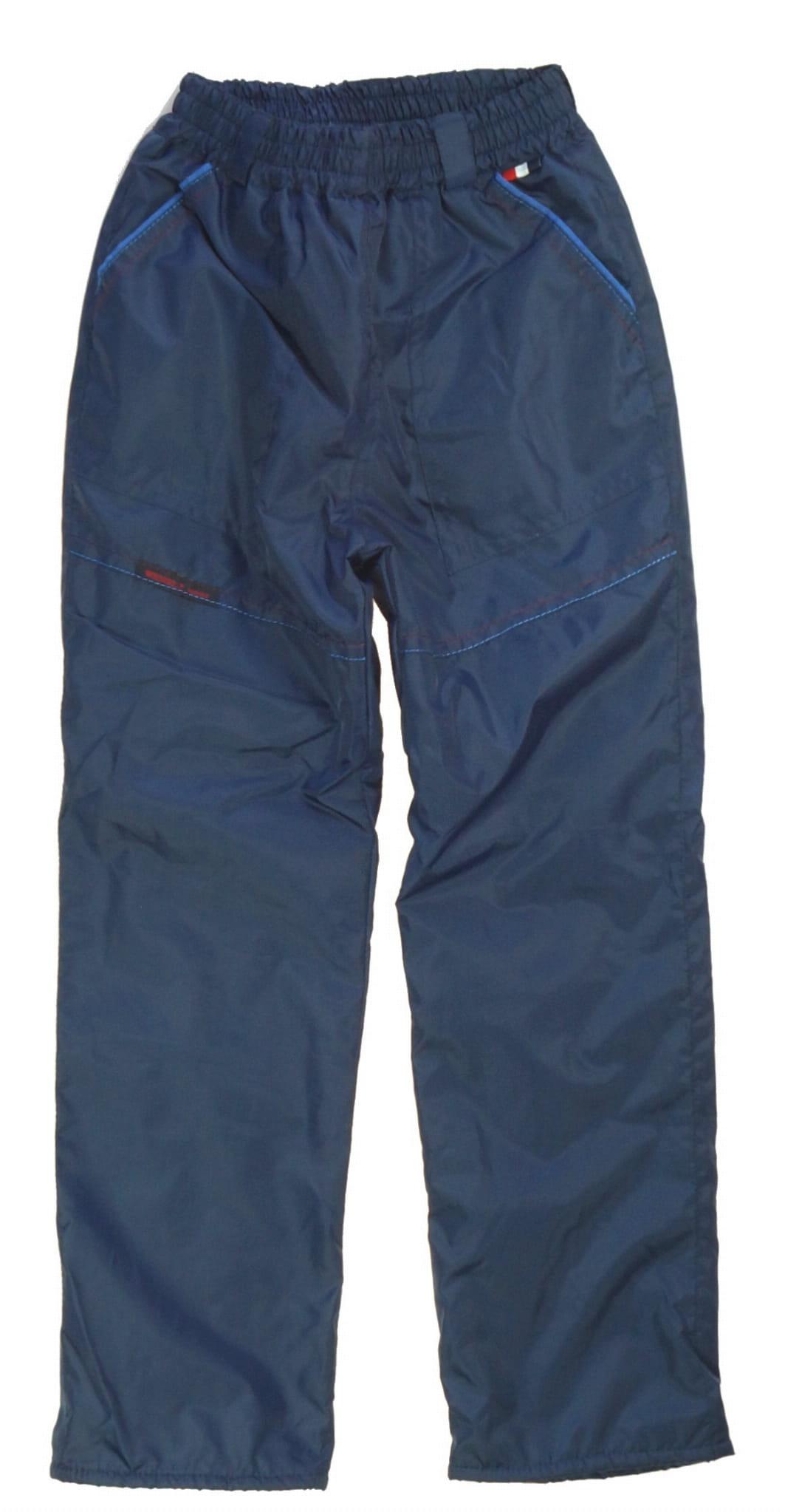 Modne ubrania Spodnie ortalionowe ocieplane polarem - dla chłopców - Bielizna Roku NE52